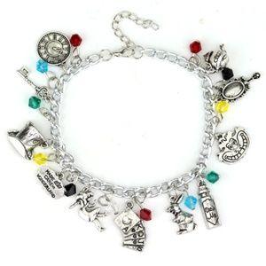 New! Women's Alice in Wonderland Charm Bracelet